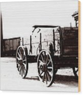 1900 Wagon Wood Print