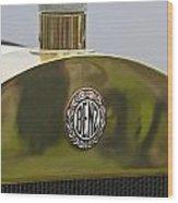 1908 Benz Grand Prix Hood Emblem Wood Print