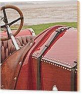 1911 Fiat S61 Steering Wheel Wood Print