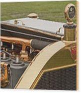 1912 Mercer Model 35 C Raceabout Engine And Motometer Wood Print