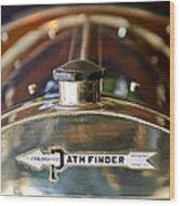 1913 Pathfinder 5-passenger Touring Hood Ornament Wood Print