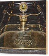 1915 Model-t Ford Hood Ornament Wood Print