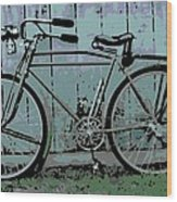 1918 Harley Davidson Bicycle Wood Print