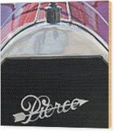 1919 Pierce-arrow Model 48 Dual Valve Roadster Grille Emblem Wood Print