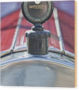 1919 Pierce-arrow Model 48 Dual Valve Roadster Hood Ornament Wood Print