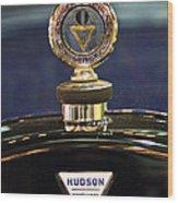 1920 Hudson Super 6 Touring Hood Ornament Wood Print