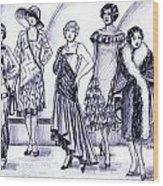 1920s British Fashions Wood Print