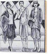 1920s Styles Wood Print