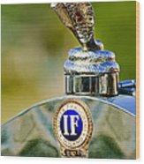 1924 Isotta-fraschini Tipo 8 Torpedo Phaeton Hood Ornament Wood Print