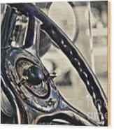 1924 Packard - Steering Wheel Wood Print