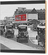 1924 Vintage Automobiles Parked At Atlantic City Wood Print