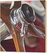 1925 Stutz 695 Speedway Sportster Steering Wheel Wood Print