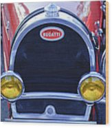 1927 Bugatti Replica Grille Headlights Wood Print