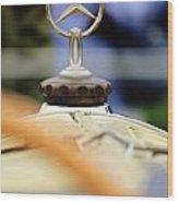 1927 Mercedes-benz S Hood Ornament Wood Print