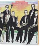 1927 New Yorkers Jazz Band Wood Print