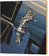 1928 Franklin Sedan Hood Ornament Wood Print