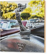 1928 Hudson Super Six Roadster Hood Ornament Wood Print