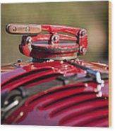 1929 Birkin Blower Bentley Hood Ornament Wood Print