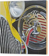 1929 Ford Model A Roadster Wheel Wood Print