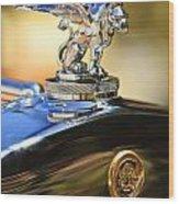1929 Gardner Series 120 Eight-in-line Roadster Hood Ornament Wood Print