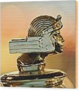 1929 Stutz Series M Four-passenger Dual-cowl Speedster Hood Ornament  Wood Print