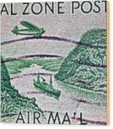 1931 Canal Zone Stamp Wood Print