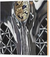 1931 Chrysler Cg Imperial Roadster Hood Emblem Wood Print