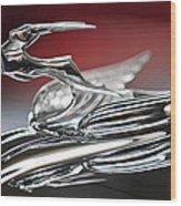 1931 Chrysler Cg Imperial Roadster Hood Ornament Wood Print