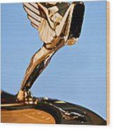 1931 Cord L-29 Legrande Speedster Hood Ornament 5 Wood Print