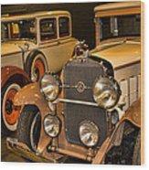 1931 La Salle Series 345r And 1929 Packard Roadster Wood Print