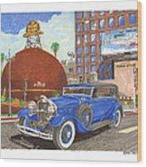 1931 Lincoln K Dietrich Phaeton Wood Print