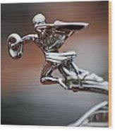 1931 Packard Deluxe Eight Roadster Hood Ornament Wood Print