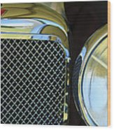 1932 Alvis-6 Speed 20 Sa Grille Emblem Wood Print