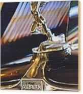 1932 Auburn V-12 Speedster Hood Ornament Wood Print