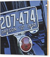 1932 Ford Model 18 Roadster Hotrod Taillight Wood Print