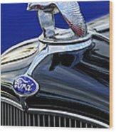 1932 Ford V8 Hood Ornament Wood Print