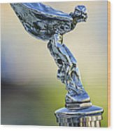 1932 Rolls-royce Phantom II Sedanca De Ville Hood Ornament Wood Print