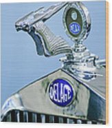 1933 Delage D8s Coupe Hood Ornament Wood Print