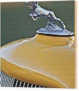 1933 Dodge Ram Hood Ornament Wood Print