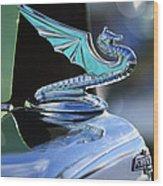 1934 Aftermarket Chevrolet Hood Ornament Wood Print