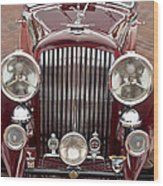 1934 Bentley 3.5-litre Drophead Coupe Grille Wood Print