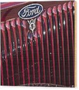 1934 Ford V8 Emblem 2 Wood Print