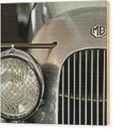 1934 Mg Pa Midget Supercharged Special Speedster Grille Wood Print by Jill Reger