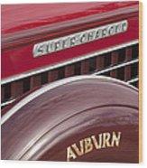 1935 Auburn Emblem Wood Print