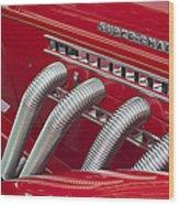 1935 Auburn Side Pipes Wood Print