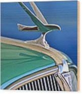 1935 Hudson Touring Sedan Hood Ornament Wood Print