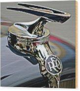 1935 Reo Speedwagon Pickup Hood Ornament Wood Print