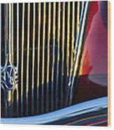 1936 Ford Phaeton V8 Grille Emblem Wood Print