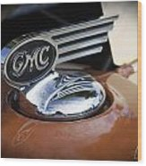 1936 Gmc Pickup Truck Hood Ornament Wood Print