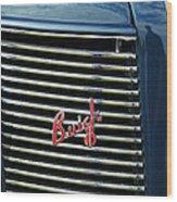 1937 Buick Grille Emblem Wood Print